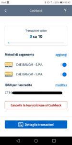 app io - metodi pagamento cashback
