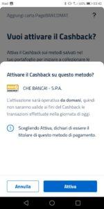 app io cashback - attivare cashback su questo metodo?