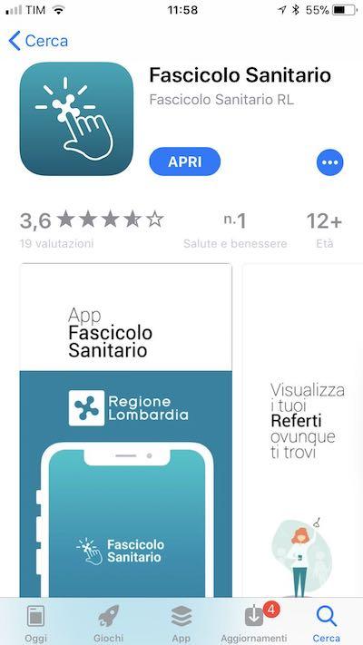 App Fascicolo Sanitario Regione Lombardia su App Store