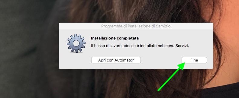 Installazione servizio Automator per ripristinare data creazione originale foto - FINE