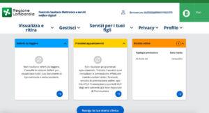 Richiesta online PIN Carta Regionale Servizi Lombardia: accesso al fascicolo sanitario elettronico