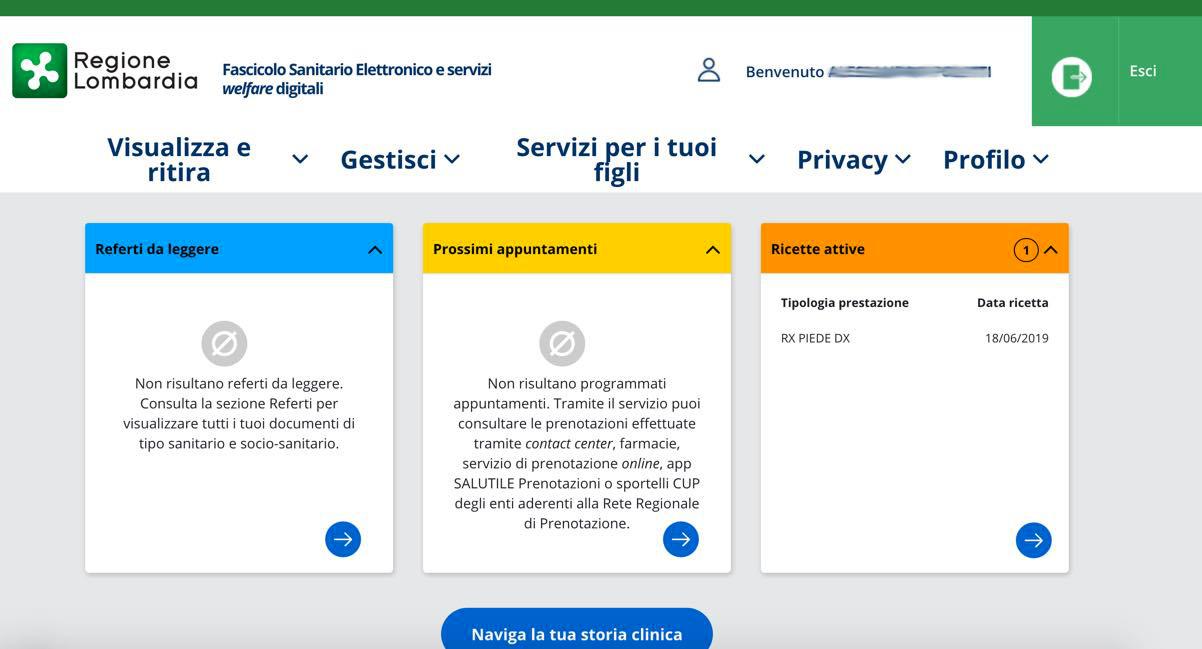 Richiesta PIN online Carta Regionale Servizi Lombardia: accesso al fascicolo sanitario elettronico