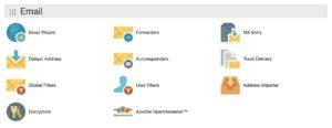Schermata cPanel GoDaddy per configurazione email